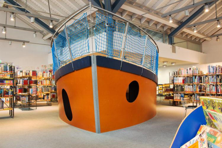 Das Büchereischiff Hoppetosse - nach wie vor ein großer Anziehungspunkt für Kinder